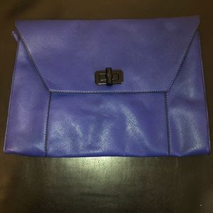 Steve Madden clutch/laptop/iPad case blue